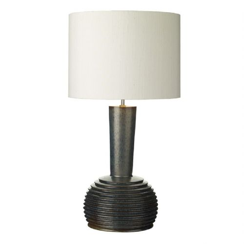 Liquid Table Lamp Ribbed Black/Oil Finish Large Base Only (Hand made, 7-10 day Delivery)
